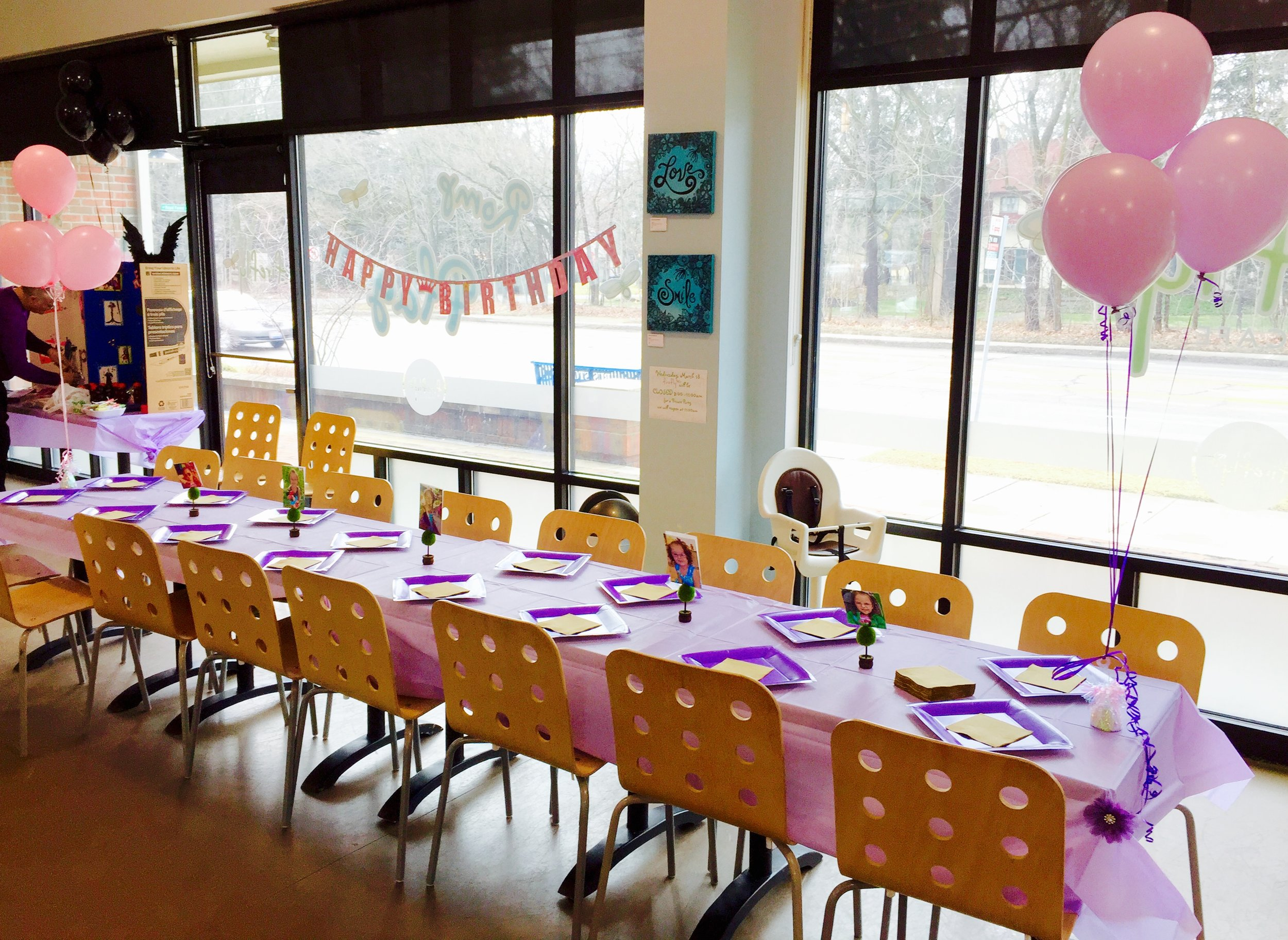 PARTY! - Private rentals are available for all your party needs! Firefly Play Cafe is the perfect space for birthday parties, baby showers and family celebrations.