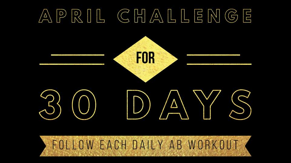 Lets be honest Summer and Bathing suits are right around the corner! Are you READY? No worries, join our April Ab Challenge!  Head on over to Facebook and join '321 Monthly Challenges' ! There we will have fun, accountability and daily workouts you can complete at home or anywhere!