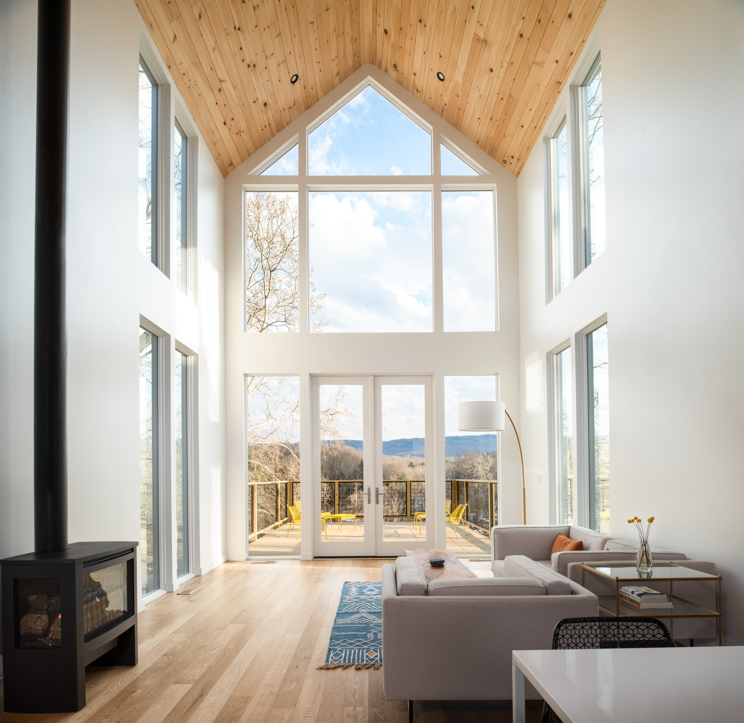 Incredible views from every room, but the most impressive has to be from the main living area through these gorgeous floor to ceiling windows.
