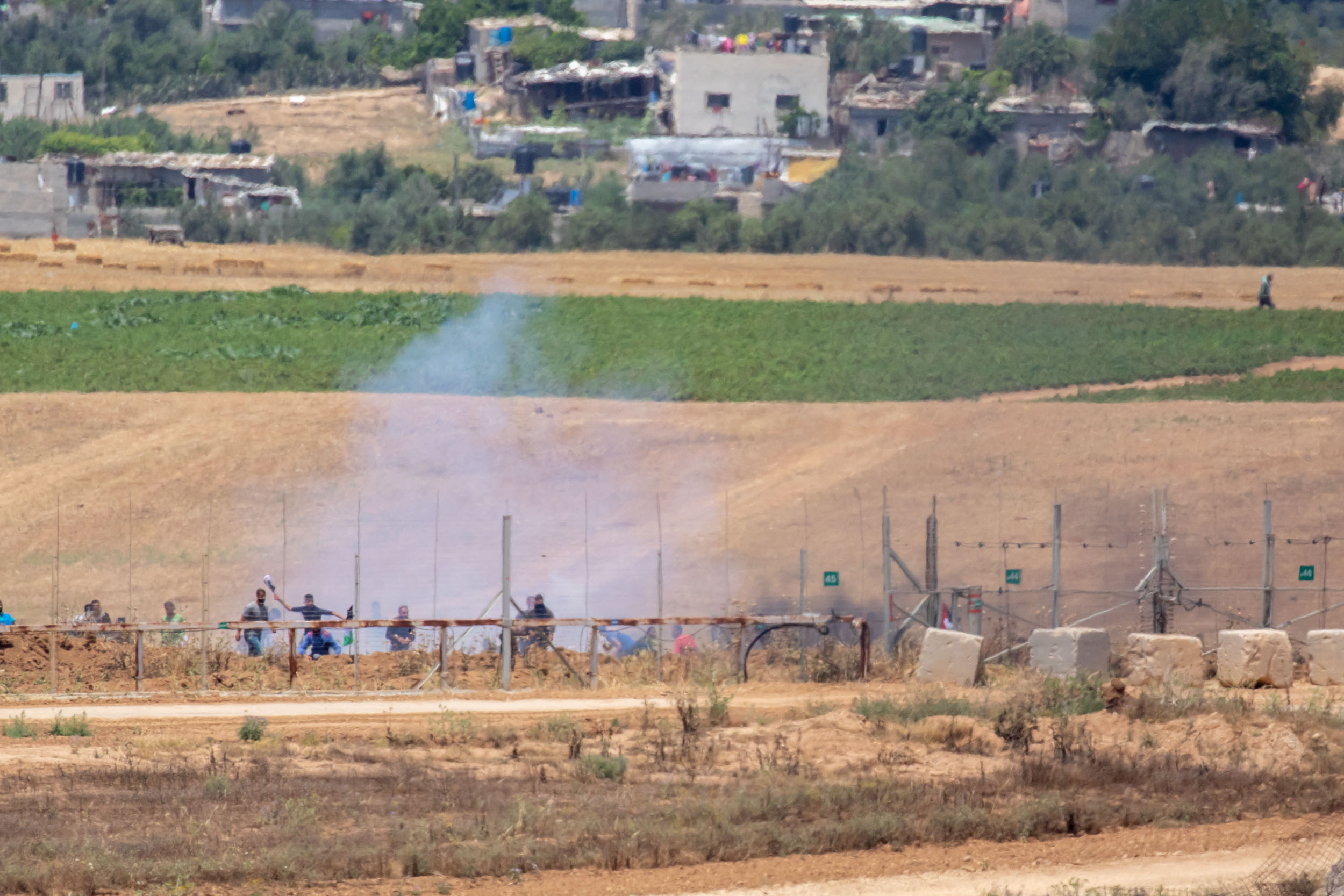 Northern Gaza Border, May 2018 - Clashes between IDF and Gaza peoples trying to forcefully cross the Israeli border