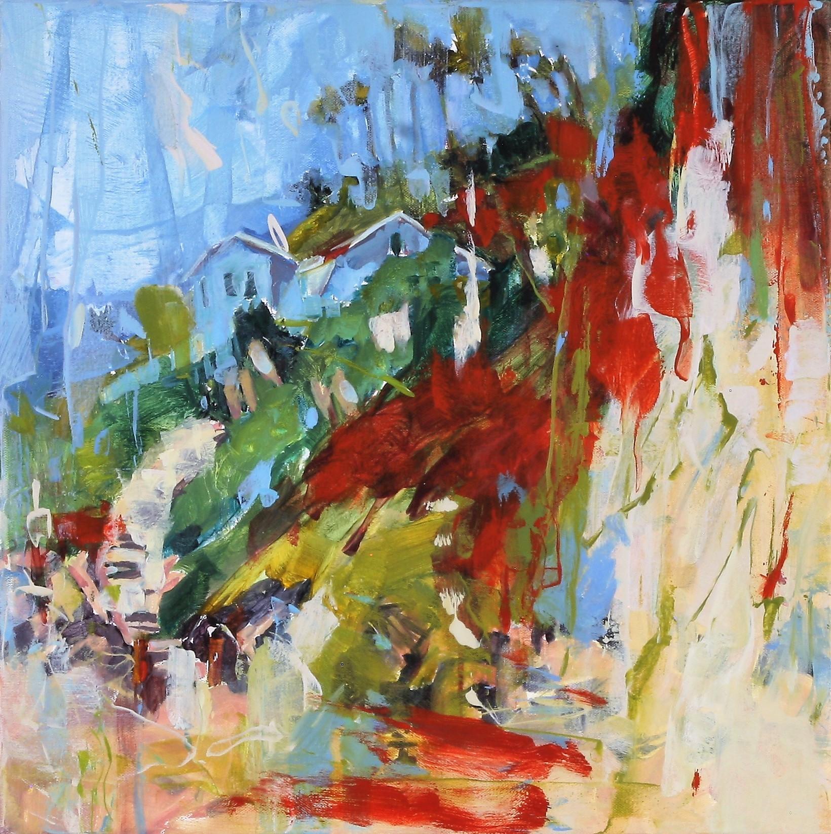 Blue Beach House 2018 16'' x 16'' oil on canvas