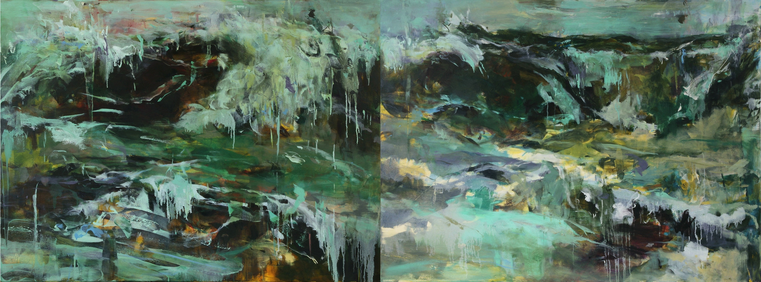 Tides that Bind 40'' x 108'' oil on canvas
