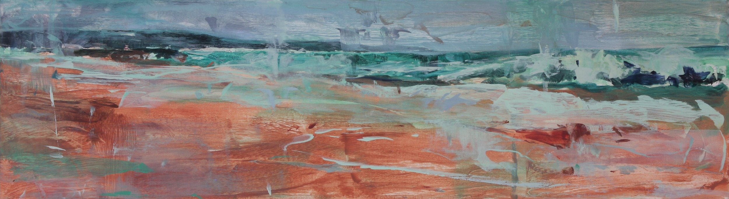 A Distant Wave I 2018 10'' x 36'' oil on canvas