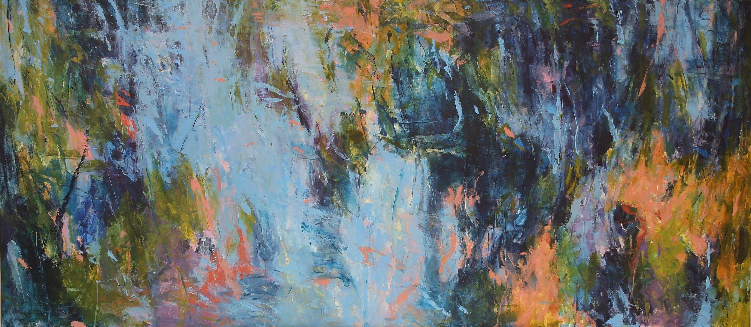 Spring Flight 2016 42'' x 96'' oil on canvas