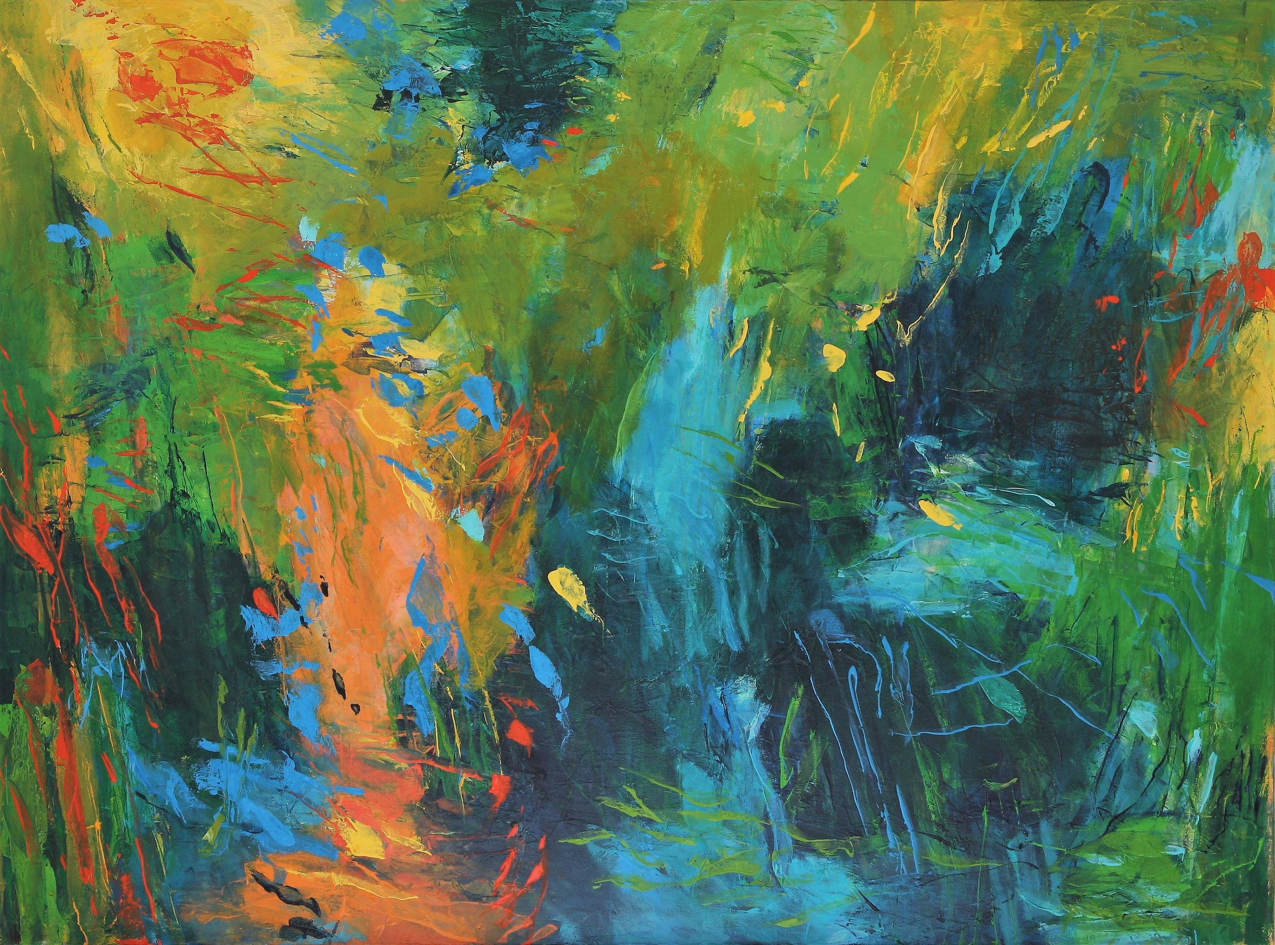 Tabula Rasa 2016 40'' x 54'' oil on canvas