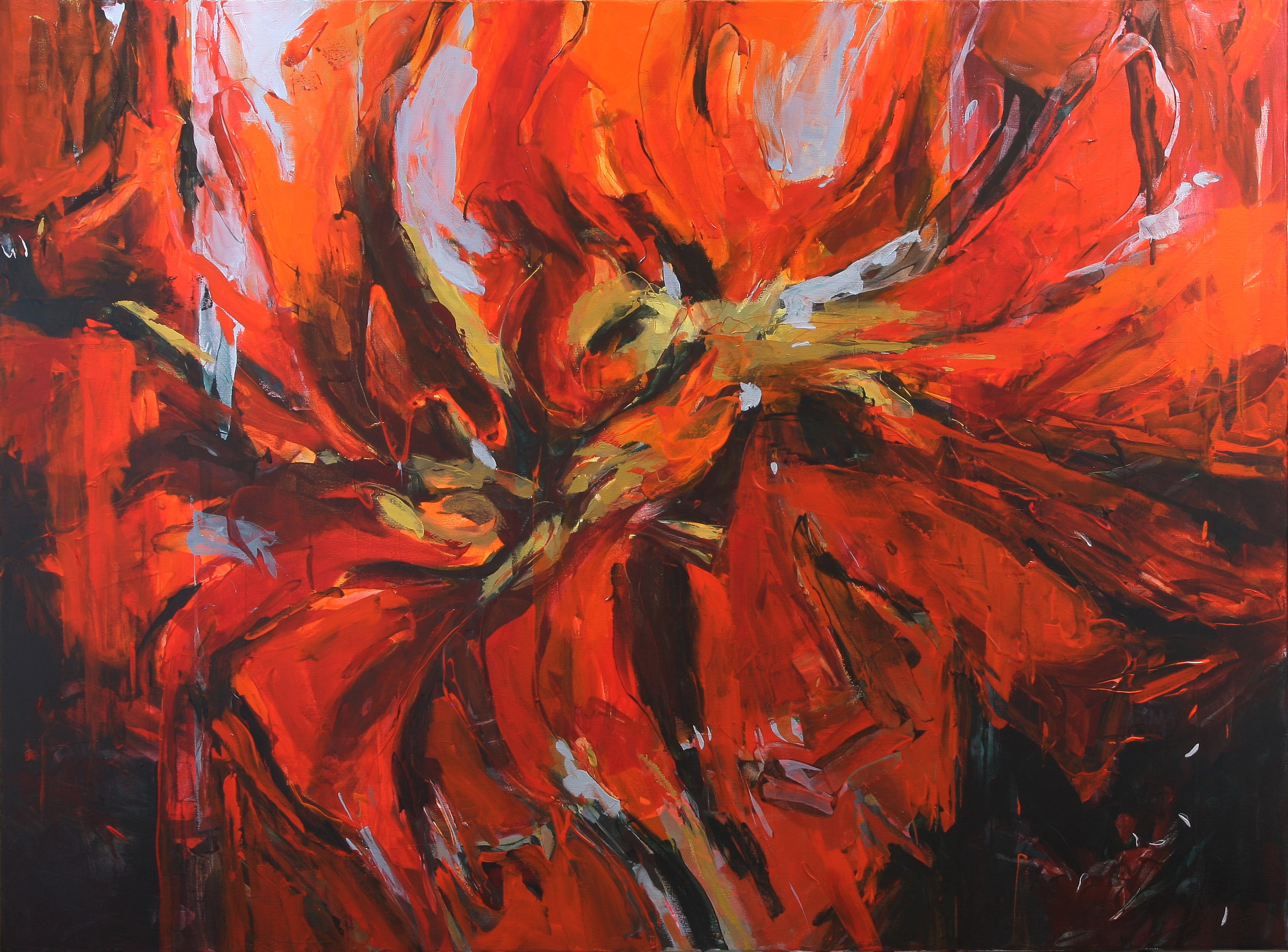 Coral Spinner 2018 40'' x 54'' oil on canvas