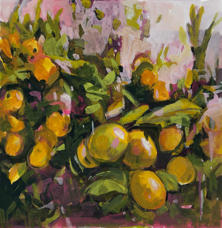 Lemon Grove Gouache 2018 7.25'' x 7'' gouache on Lanaquarelle