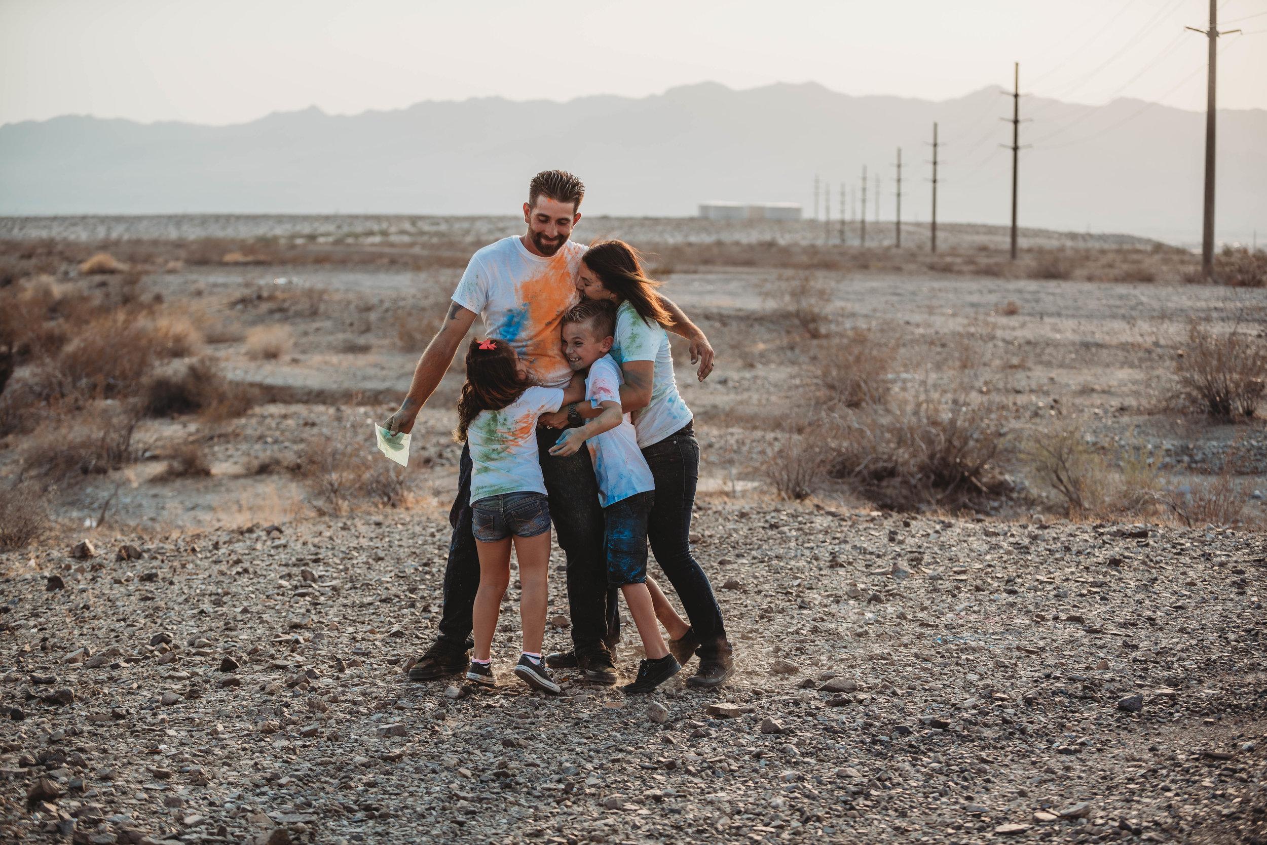 Desert power lines