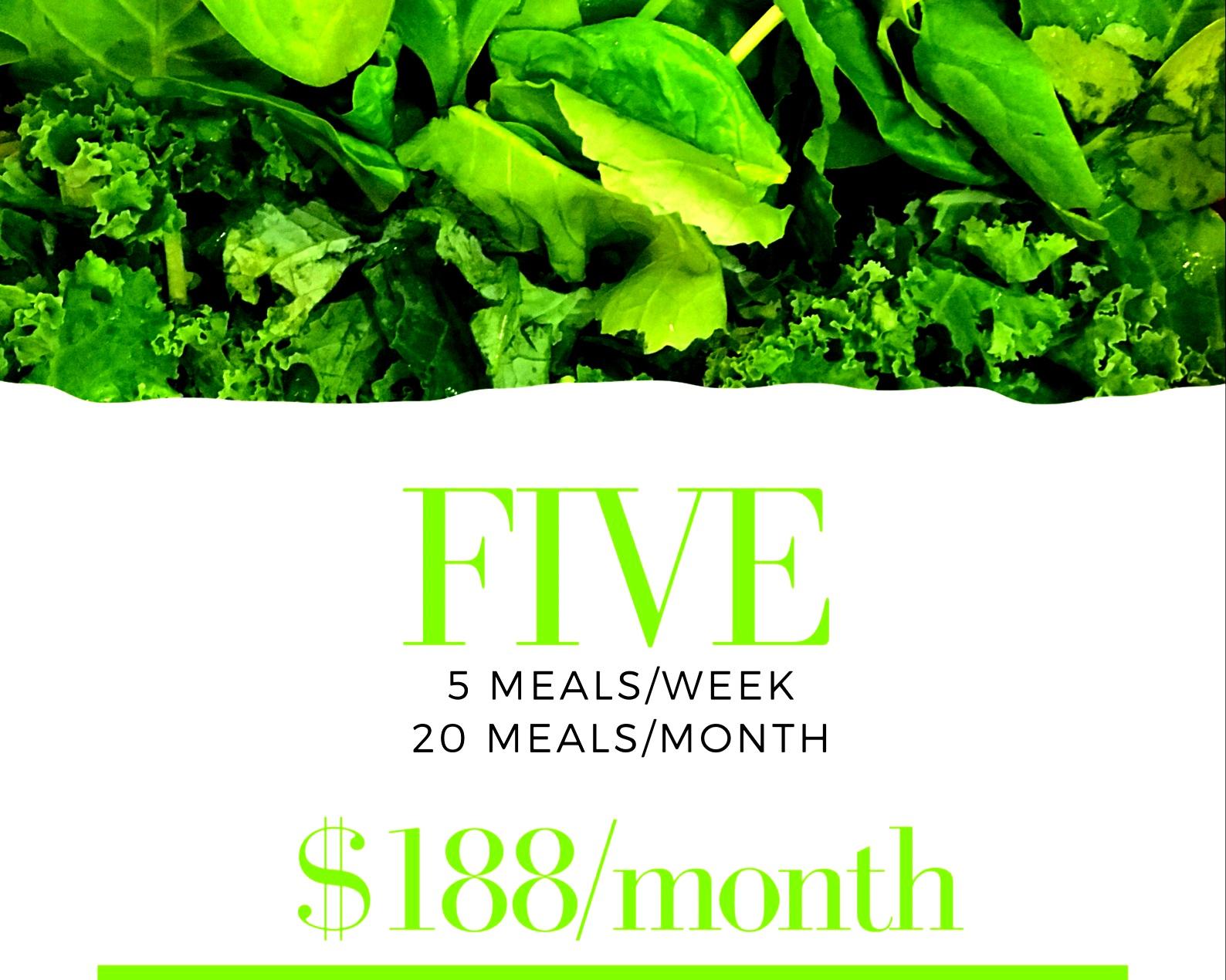 5 meals delivered every week for 4 weeks