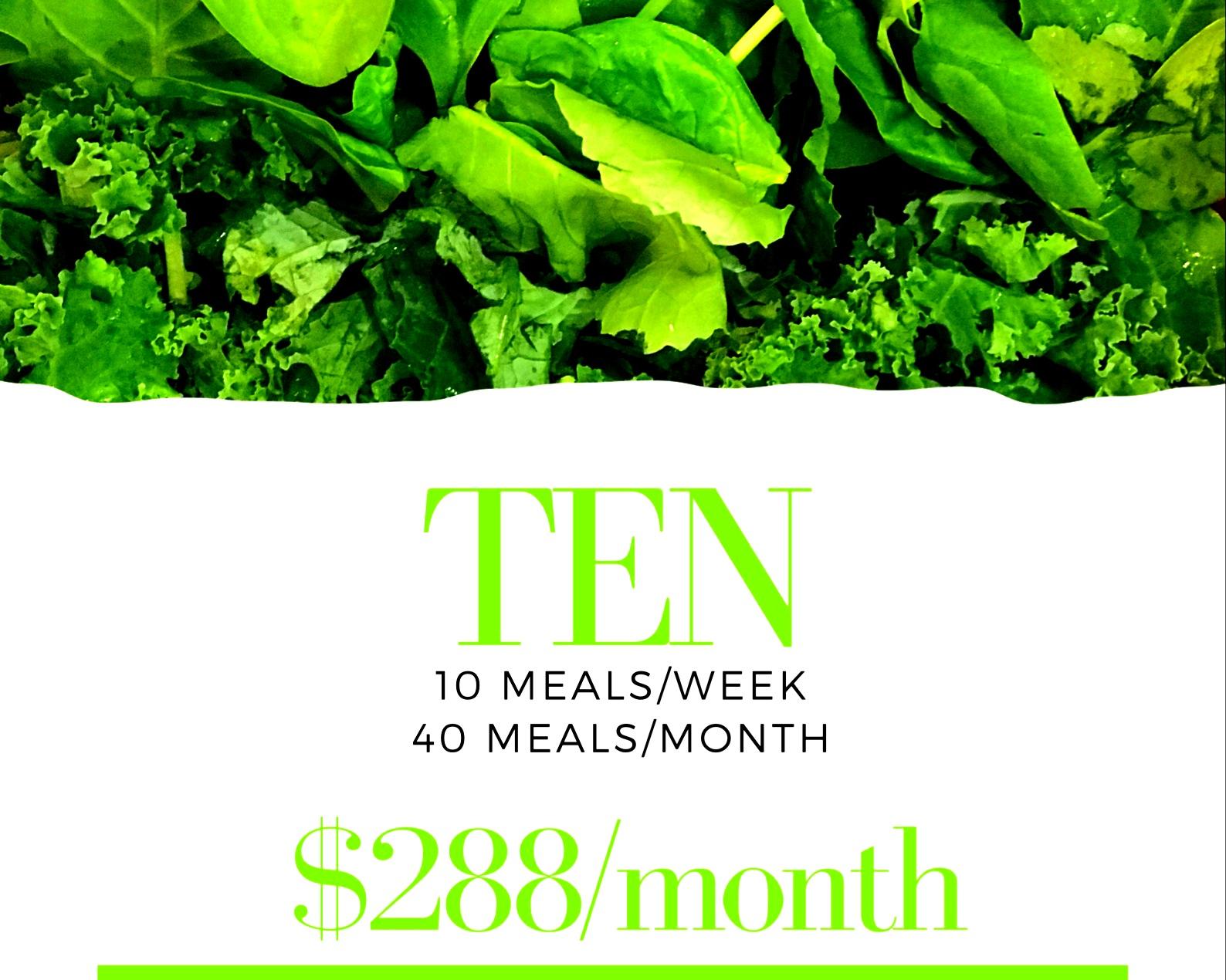 10 meals delivered every week for 4 weeks
