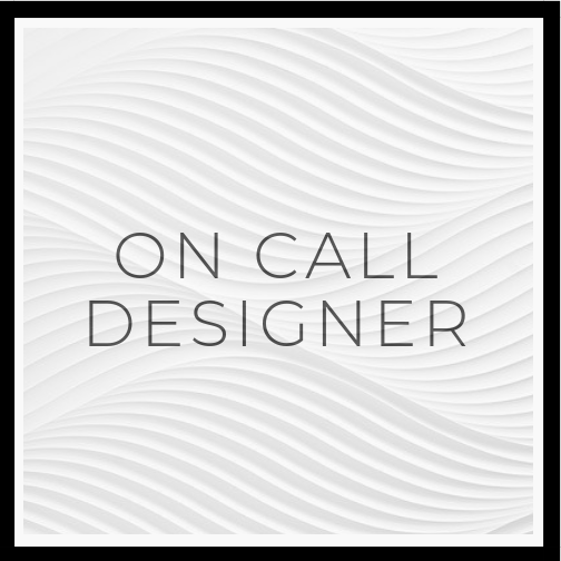 1 week $250 ||2 weeks $400 ||1 month $600 - With On Call Designer, I will be your virtual personal designer. You have an idea of what you want but are afraid to make mistakes! Whatever it may be - I am here for you! One week will give you answer for 3 questions, two week will be for more than 3 questions and if you are building or renovating I recommend 1 month. This is not limited to one room. This will not include any creative board or floor plan, if you would like to add we can do that for $295 per room.