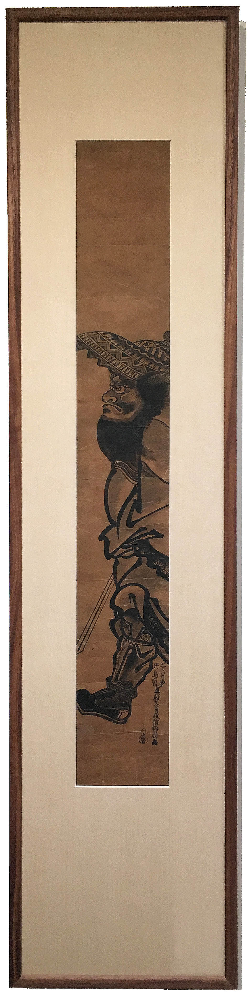 "CLASSIC WOOD IN OIL AND WAX, 8"" X 40"" FRAME ( OKUMURA MASANOBU )"