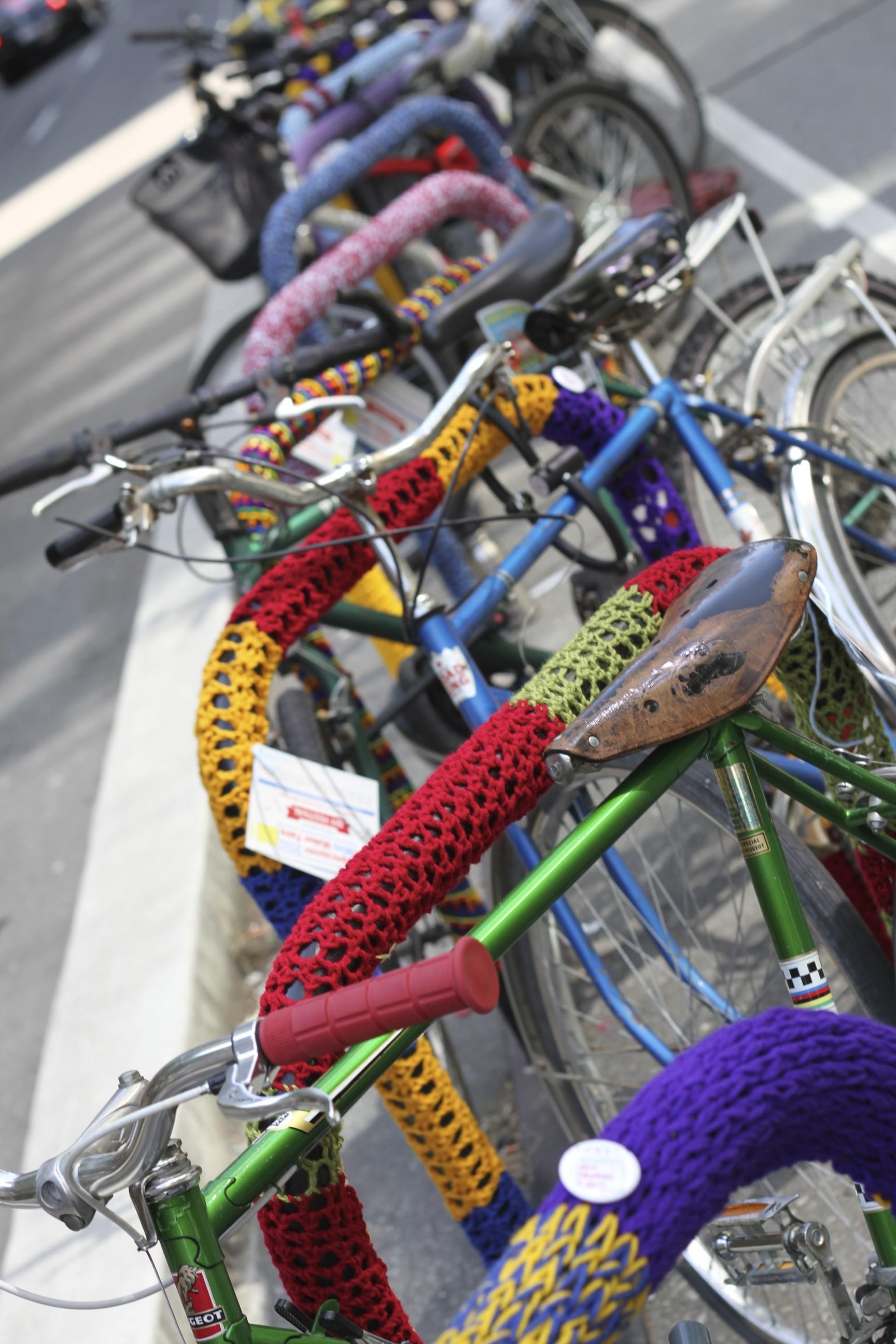 Yarn Bomb-o-Rama for Vancouver MIni Maker Faire, 2011