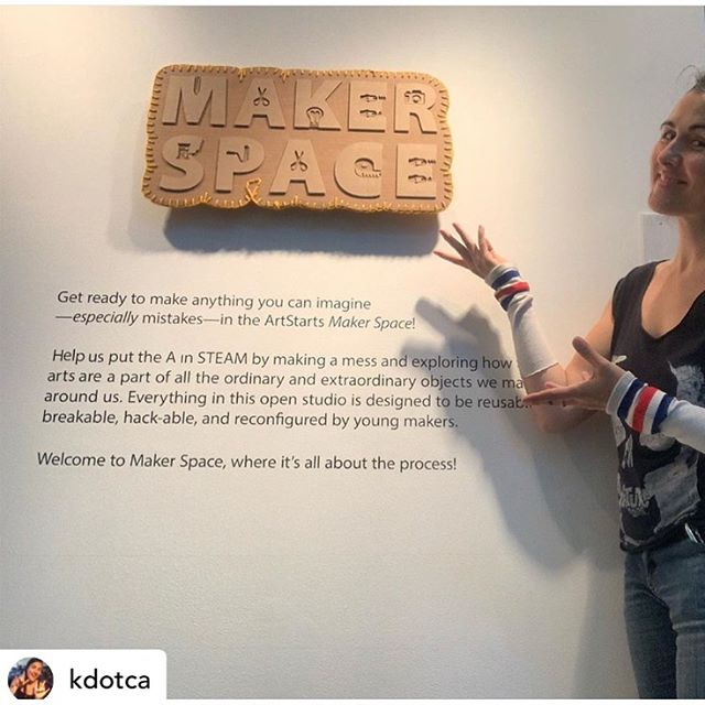 Huge congrats to @kdotca and the team for putting all of this together!!! I'm super grateful to have been part  of the visioning team on this one. Looking forward to visiting the site soon! 👏👏👏 @artstarts ! . . . #makerspace #makespace #artstarts #maker #makingintheclassroom #diy #ASmakerspace