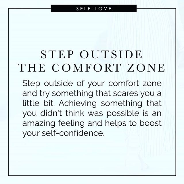 Stepping out of your comfort zone can be very intimidating and outright scary.  I know that all too well.  I'm an extreme introvert, so sharing online and meeting new people is way out of my comfort zone.  But, I have noticed there are awesome rewards every time that I do.⠀ ⠀ ⠀ ⠀ #youarebeautiful #beyoutiful #youarespecial #youarewonderwoman #youareworthy #youareunique #imperfectlyperfect #loveyourself #loveyourselftoday #loveyourselffirst #loveyourselfalways #selflove #selflovewarrior #selfacceptance #selfacceptanceiskey #bodyimage #bodyimageissues #bodypositive