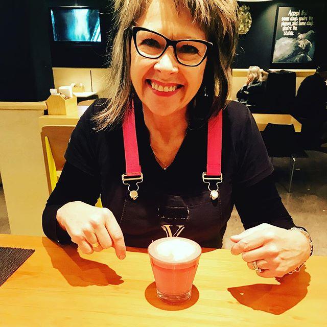 Loving my new healthy lifestyle enjoying a delicious red velvet latte before work today #lifeisgood #ilovetaupo #vegan #redvelvetlatte #healthylifestyle