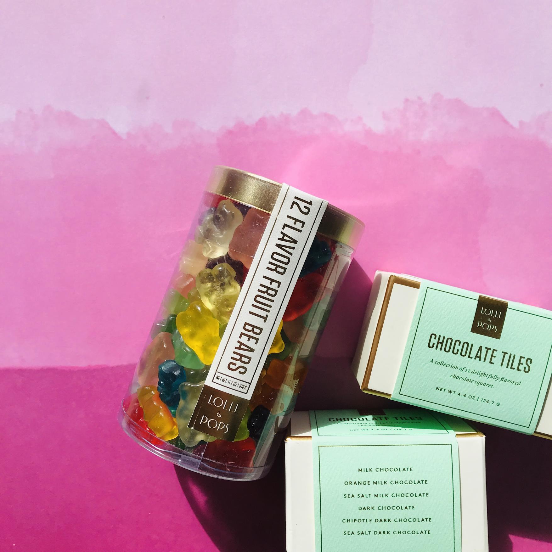 Gummi Bears and Chocolate squares