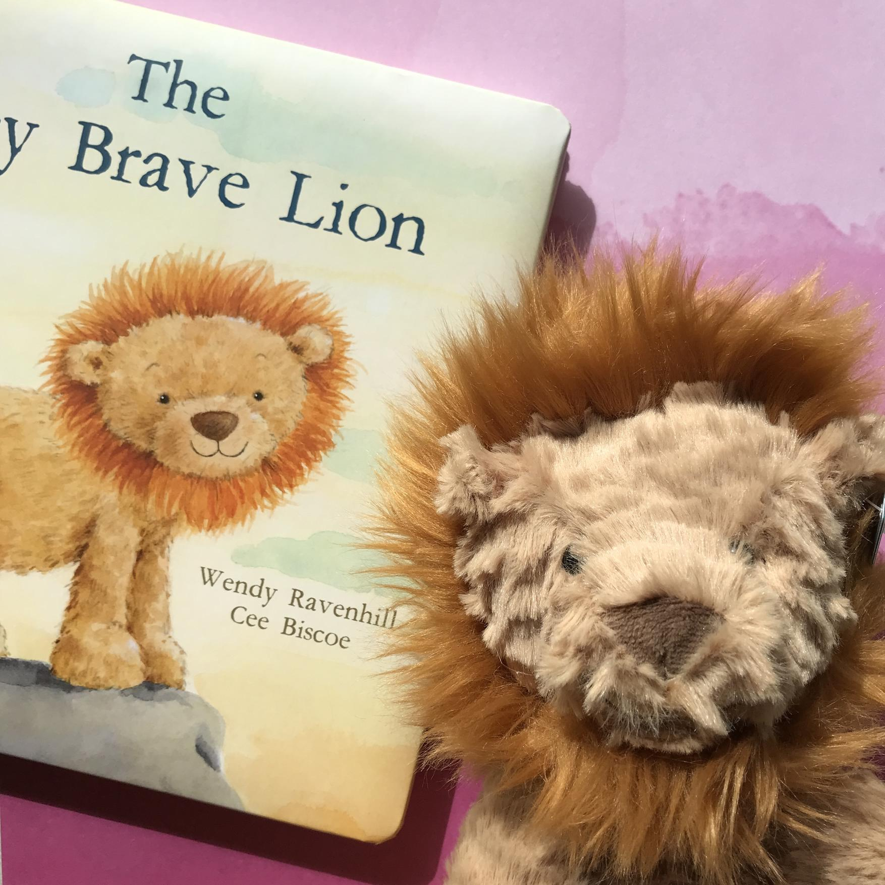 Jellycat Lion and The Very Brave Lion book
