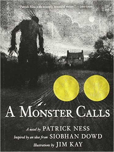 A Monster Calls by Patrick Ness - book cover.jpg