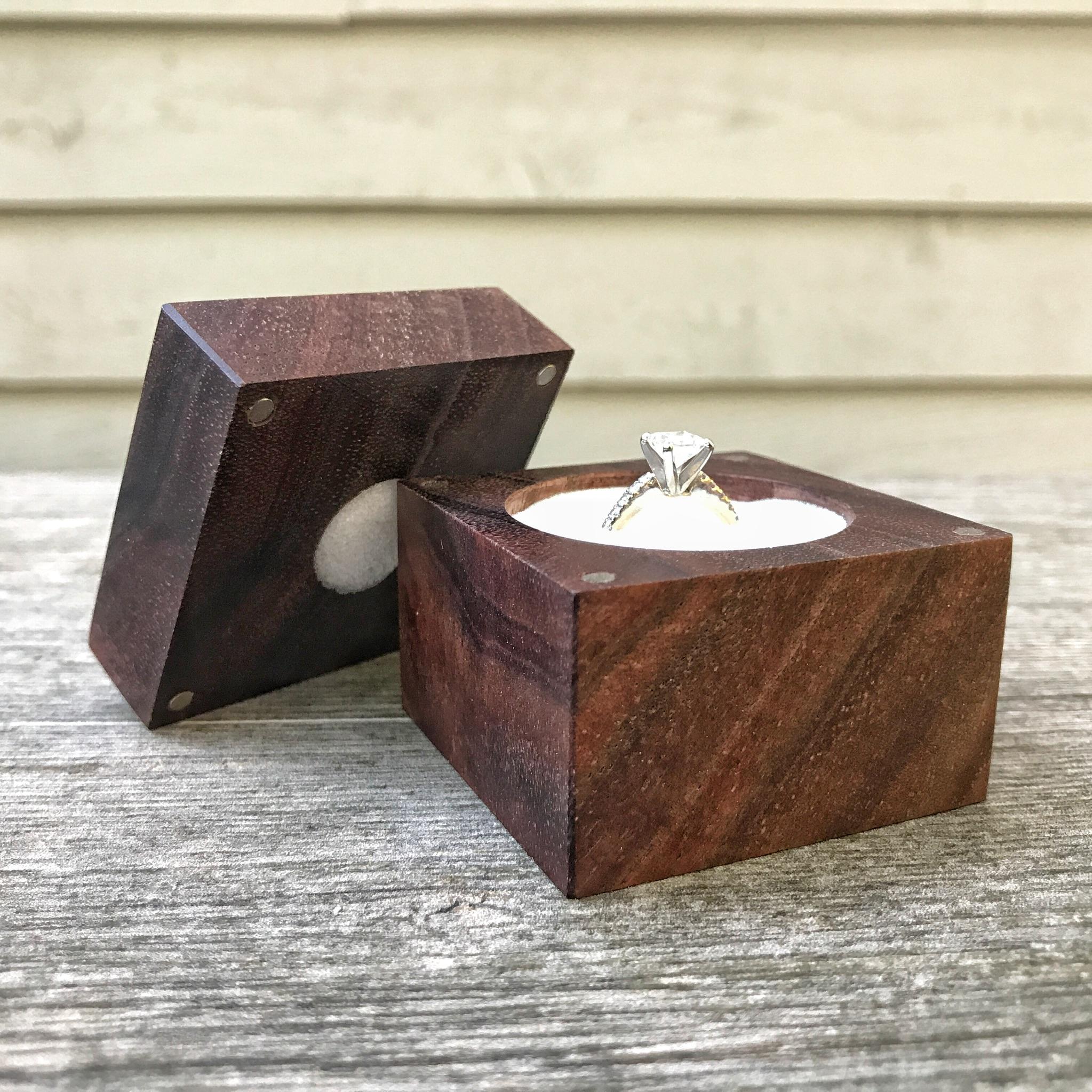 Claro Walnut Engagement Ring Box