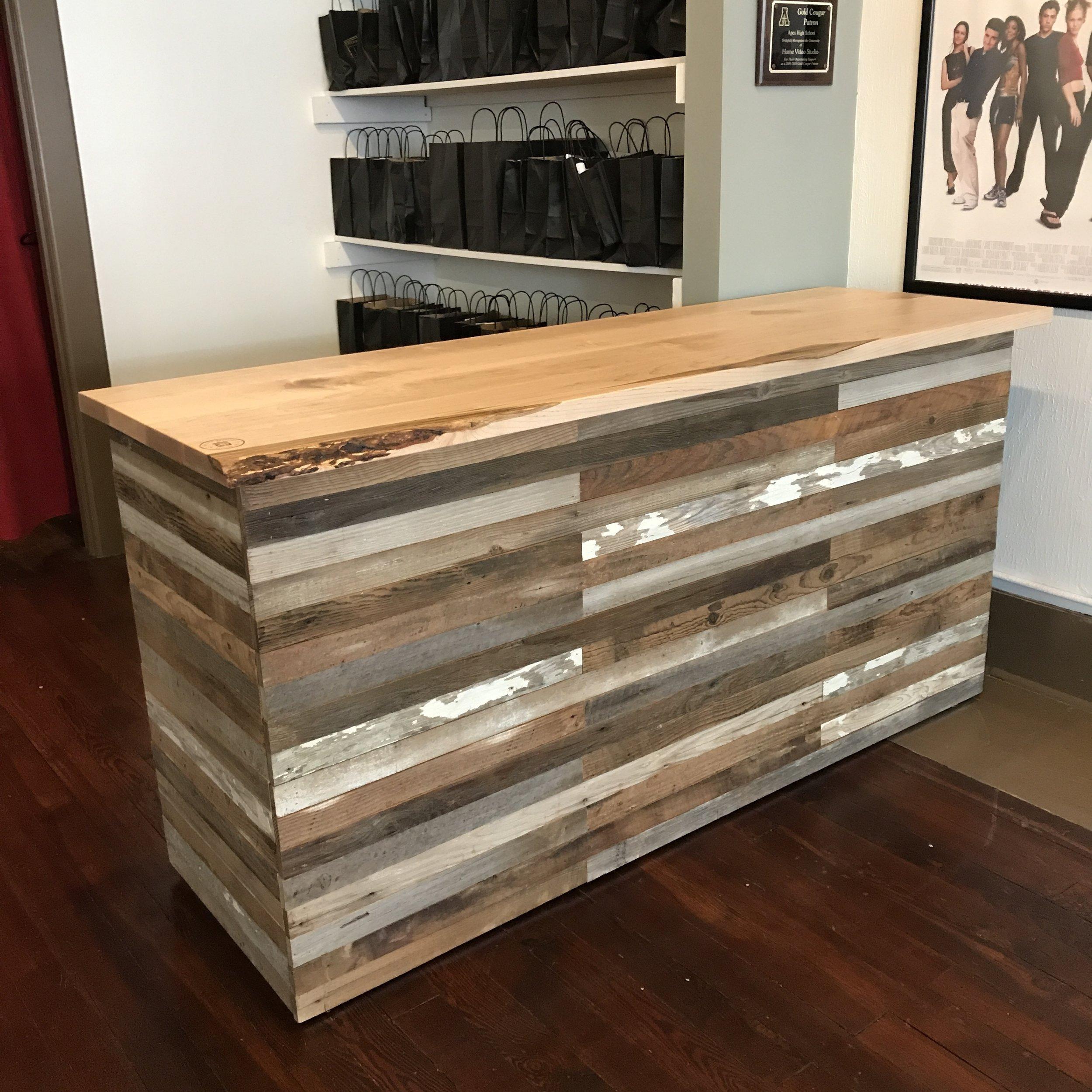 Reclaimed Barnwood Reception Desk