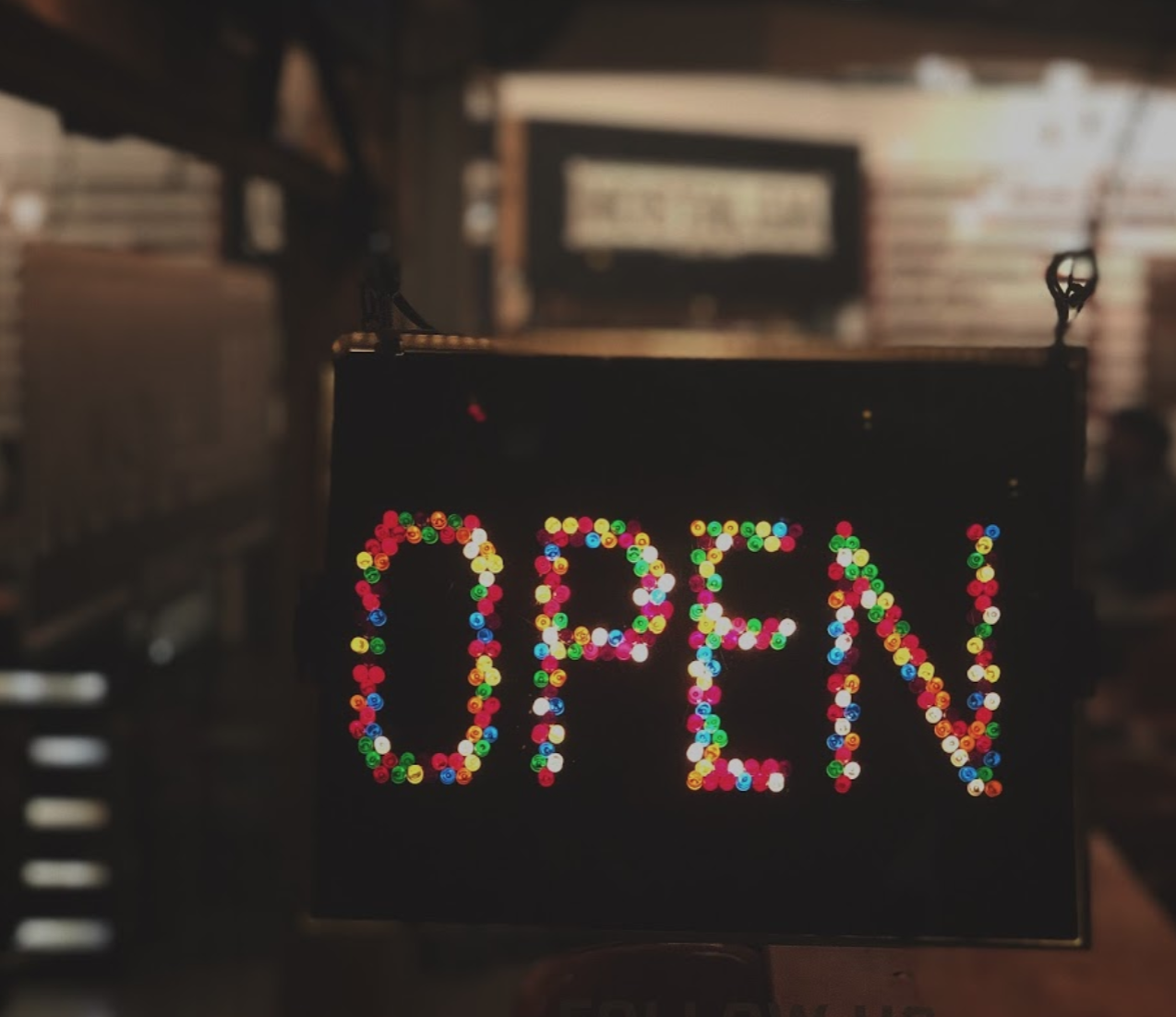 OPEN - Our Lite-Brite Sign