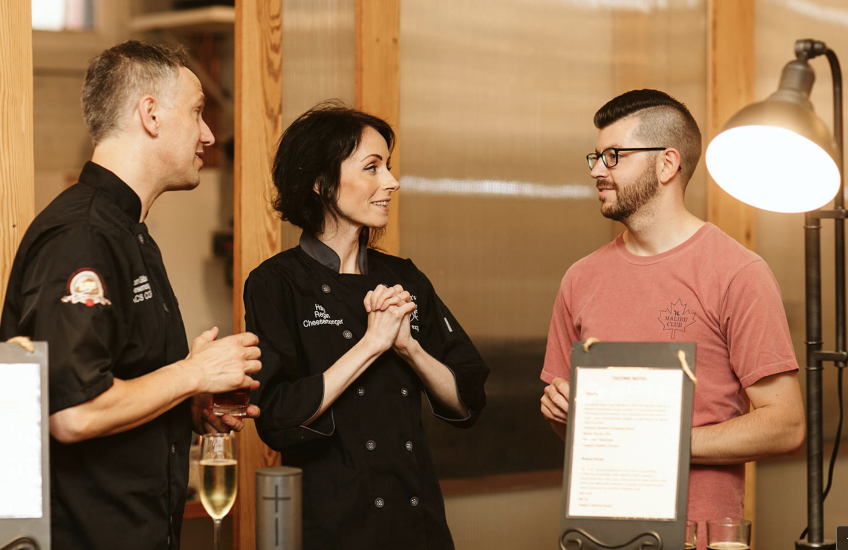 Gilbert Cheese Experience Event- Holly & Brian with Brice Sanders. * photo cred Catie Bergman Photography
