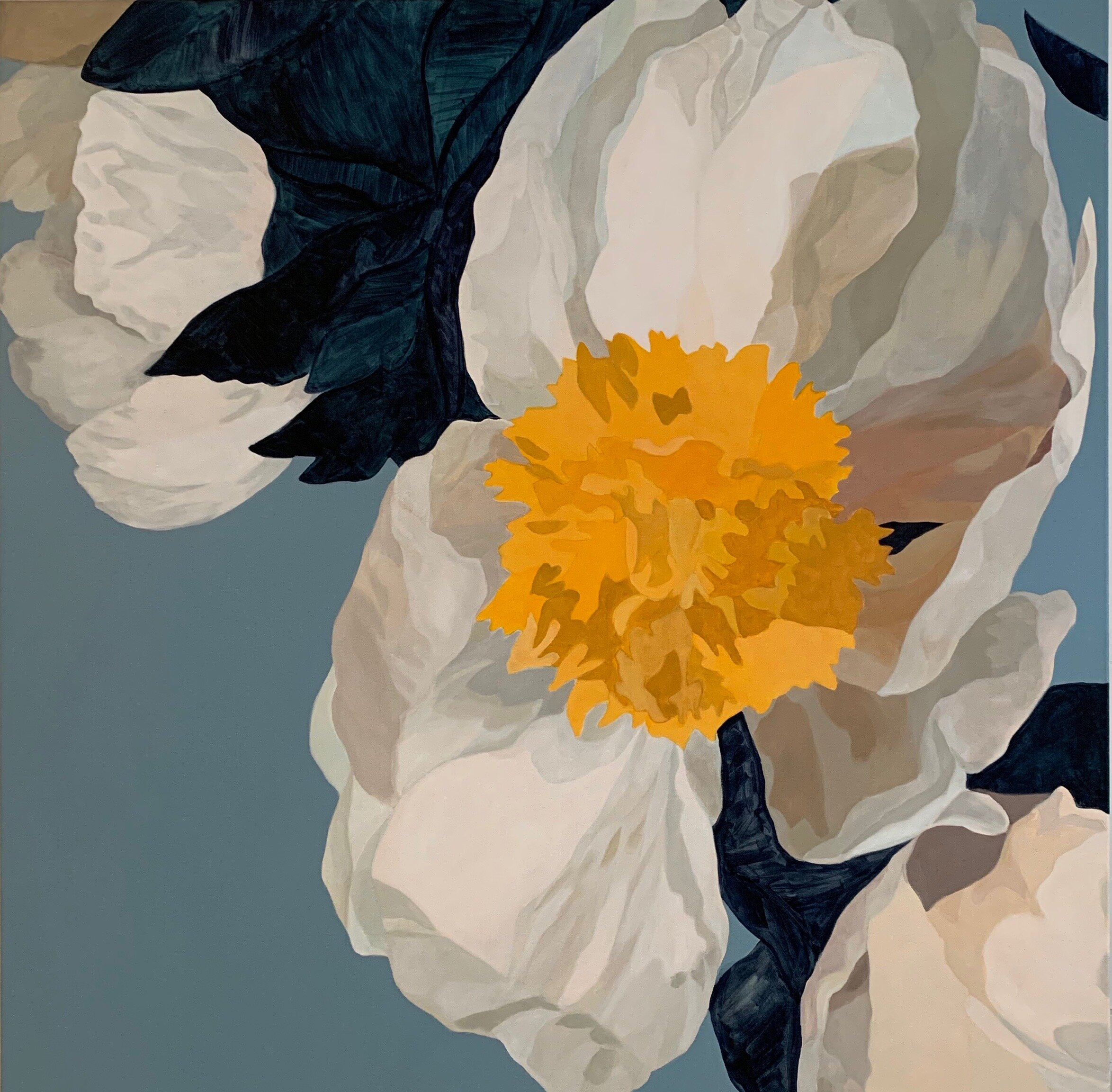 neicyfrey-white peonies on clear blue40x40.jpeg