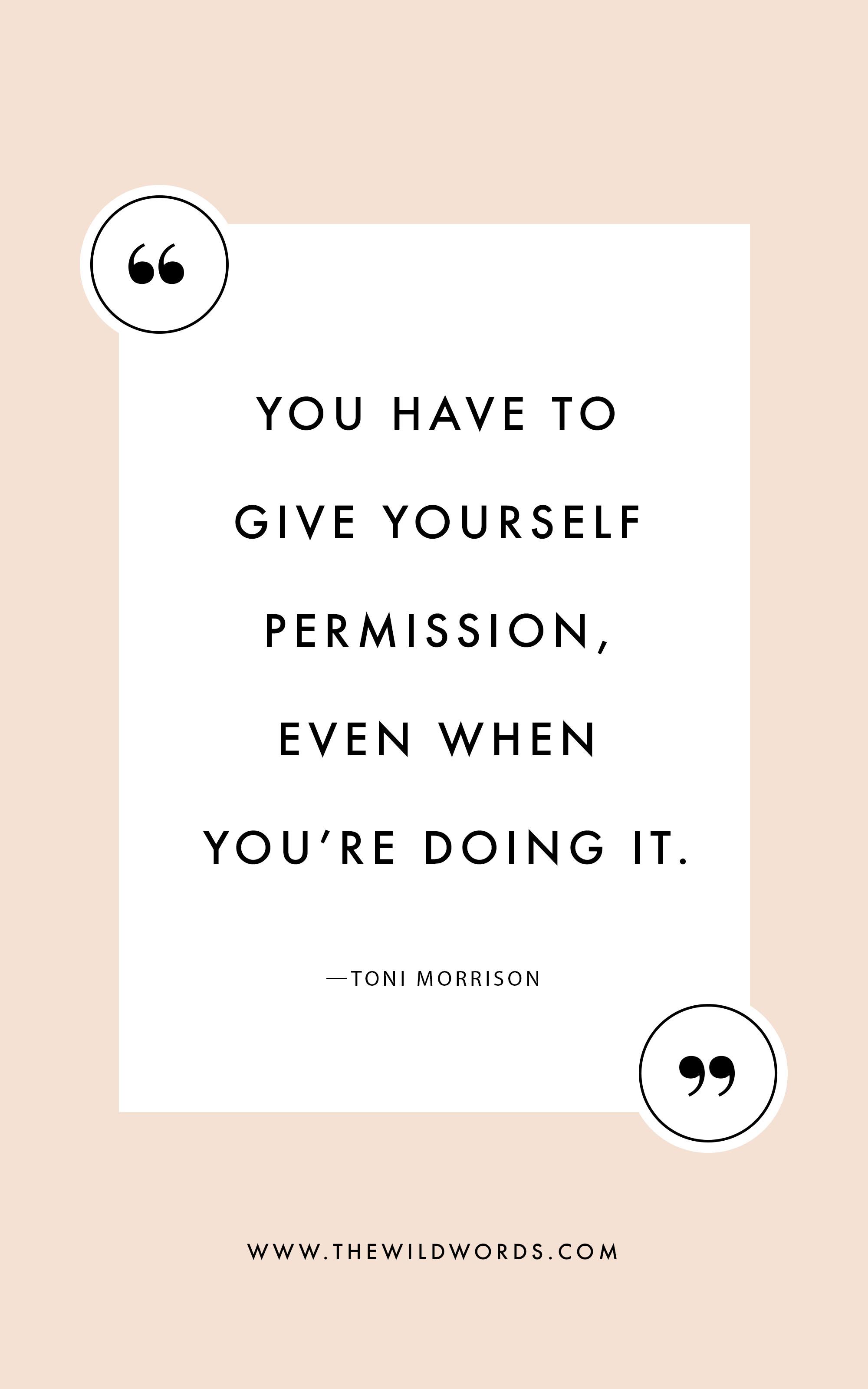 Here's why Toni Morrison didn't always feel like a writer.