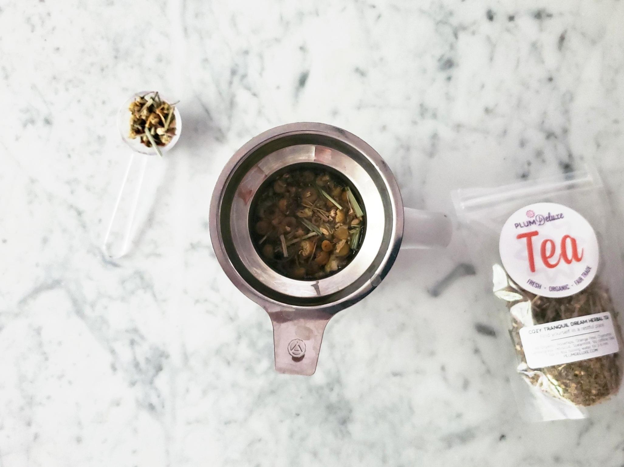 Plum Deluxe Cozy Tranquil Dream Tea