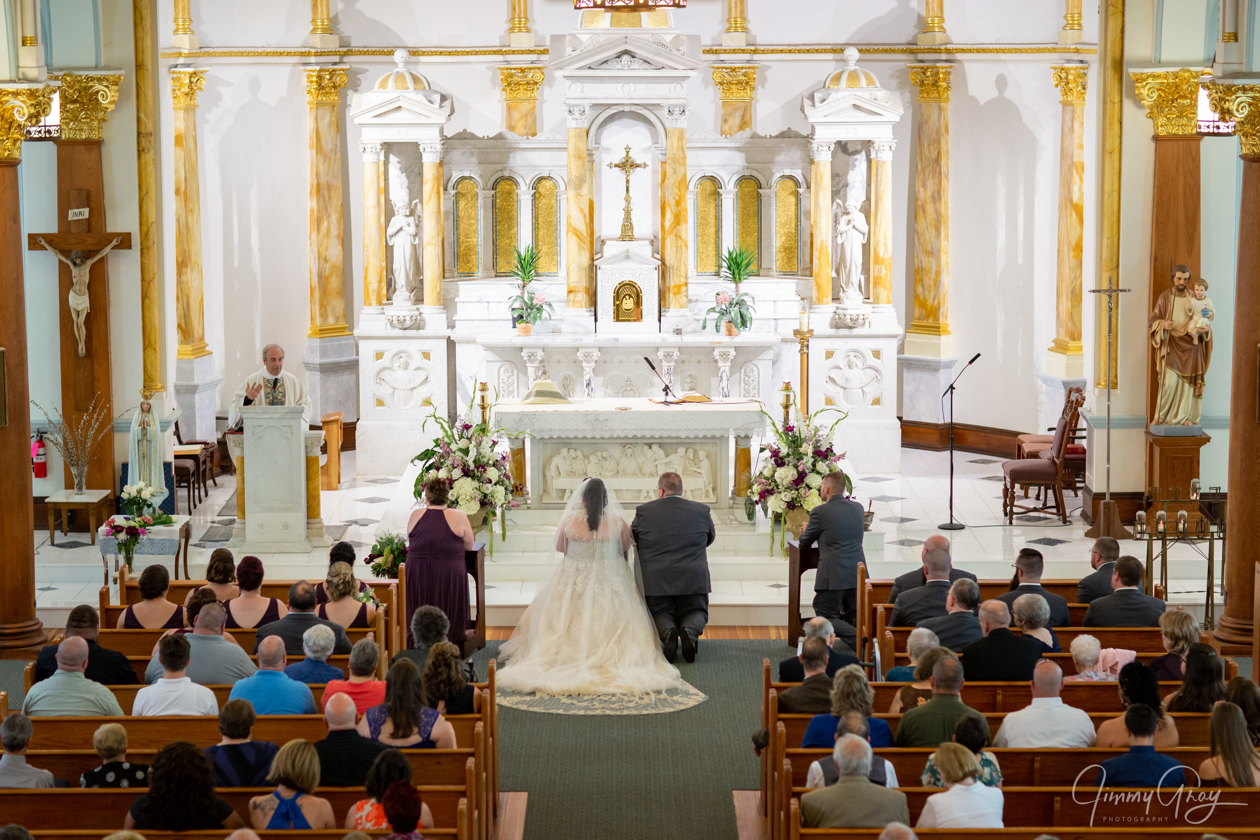 CT Wedding Photography - Jimmy Gray Photo - Baltic, CT - St. Mary's Church - Shot For Kady Provost Photography