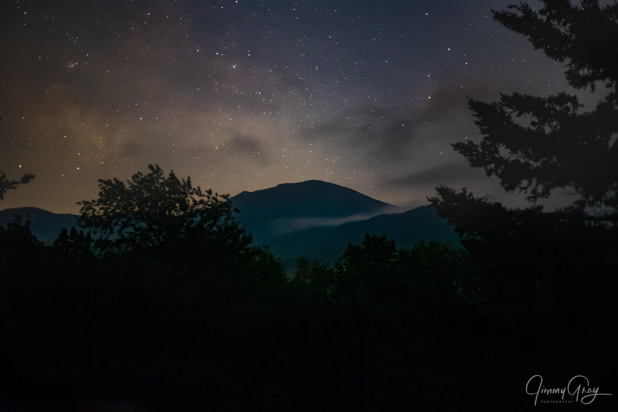 Midnight Mist Over The Mountains - Presidential Range Randolph, NH