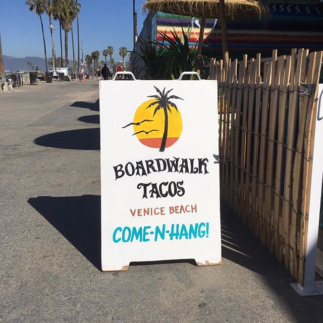 Serving up the best tacos on the boardwalk daily! Ocean views and cold brews too! 🌊🌮🍺🌴 . #BoardwalkTacosVenice #BestTacosOnTheBeach #TacosAndBeersPorFavor