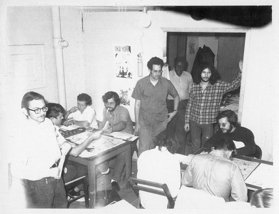 Friday night playtesting at SPI sometime in the 70s, I can identify Al Nofi to the left with the stache' and the late John Young with the cigarette in mouth.