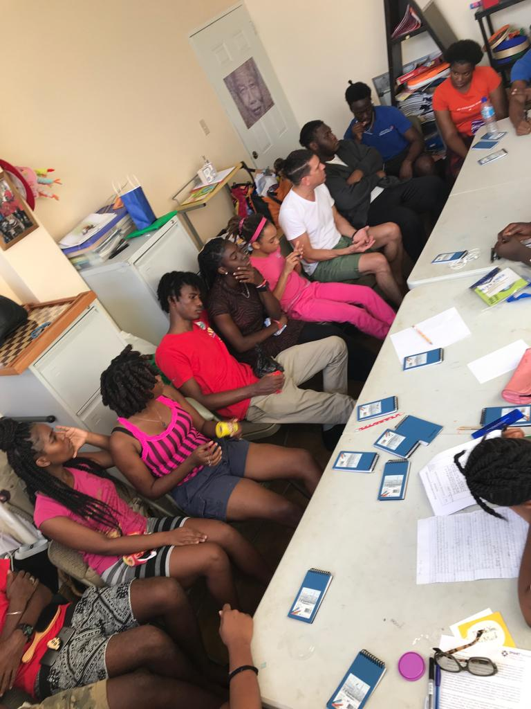 Jeremy's SMART Recovery information session for teenagers at the Yahweh Foundation in Tobago.