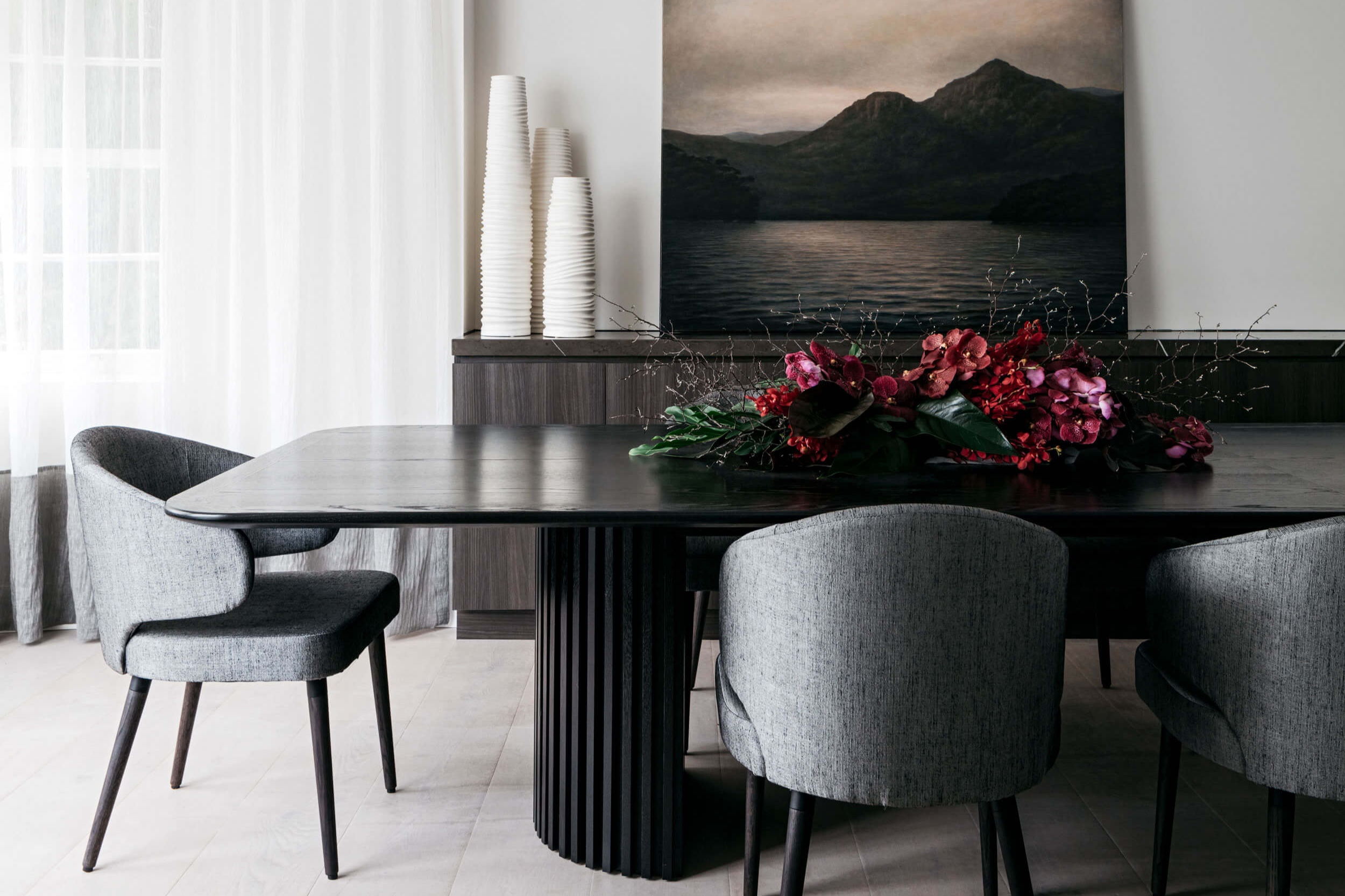 Custom 4.5 metre dining table at  Rose Bay House