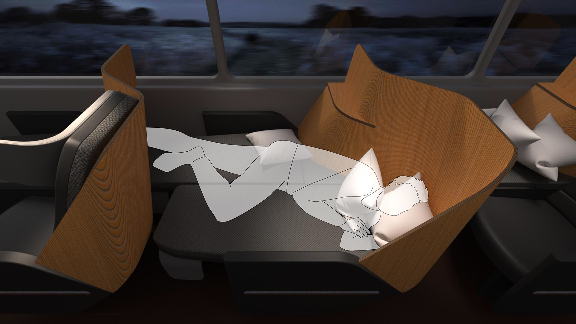 Nap - Fall asleep in Boston, wake up in Washington. With both seats folded down, passengers can nap away in their own personal bed, stretching over 78 inches tip-to-tip. Road trips have never been more relaxing.