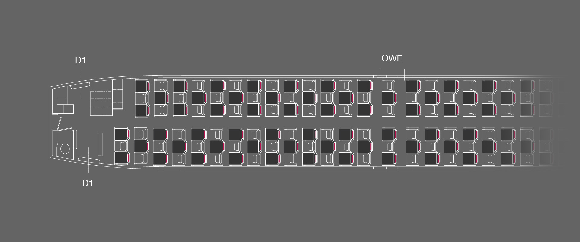 B737-800 All Business Layout