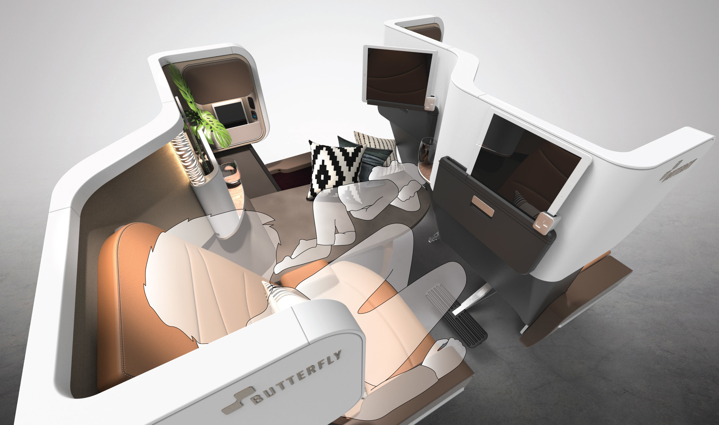 Family Time - In premium economy, airlines may choose to activate couches for little children to sleep more comfortably especially during very long flights. bringing tranquility to the people around – increasing the wellbeing of the kids and reducing the stress level of the parents and of course surrounding passengers.