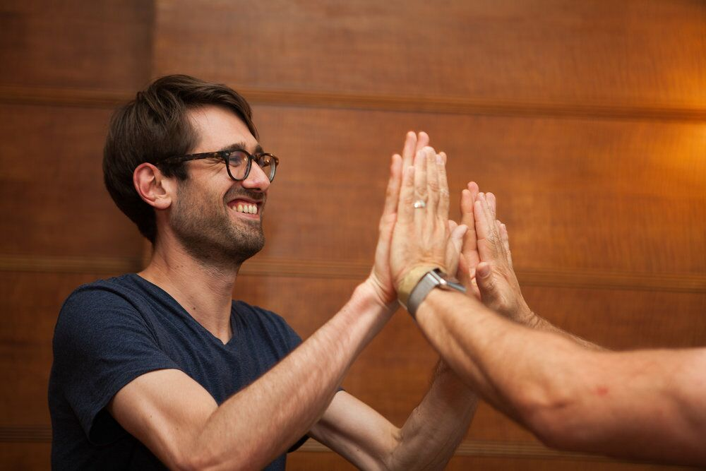 Our improv for business workshops will show you how to: - · Collaborate better so you can achieve extraordinary results with what you've already got.· Communicate effectively so that no messages go missing.· Tell great stories so you can connect with your audience.· Lead with agility so you can thrive in an uncertain world.· Be more resilient so you can face change confidently.