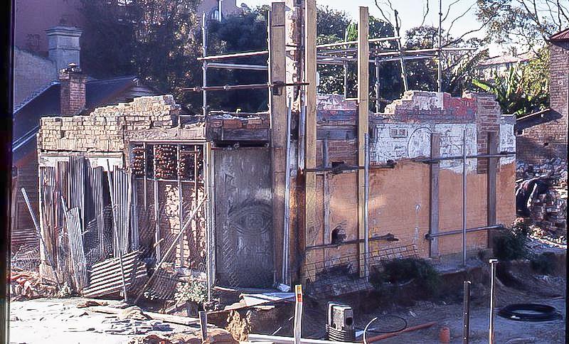 Derelict Scott St terraces, 1980s