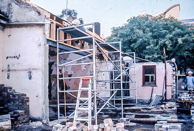 Rebuilding Scott St terraces 1990s, Sydney Harbour Foreshore Authority