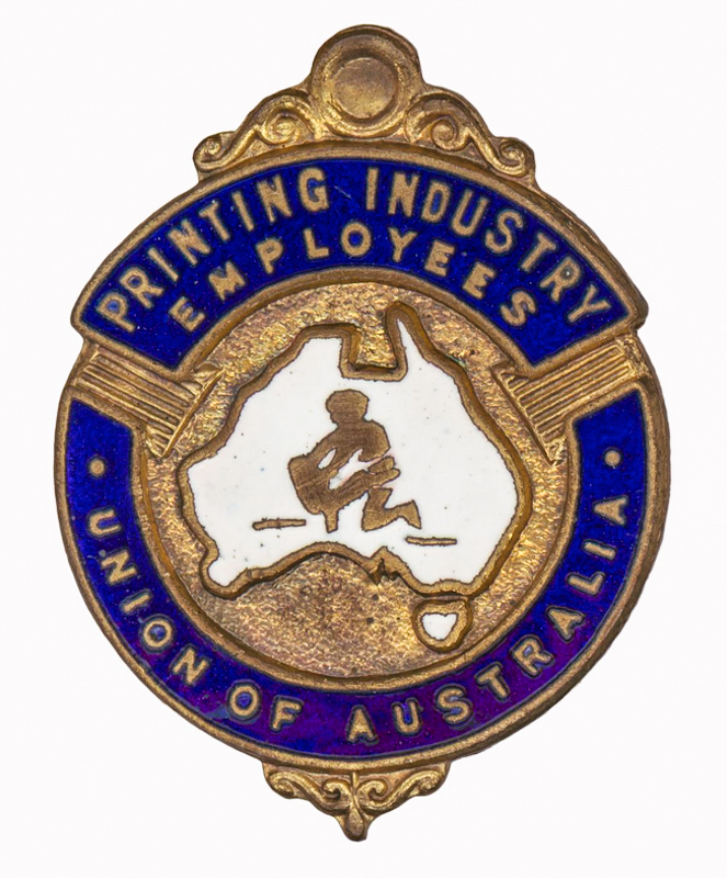 Printing Industry Empoyees Union badge