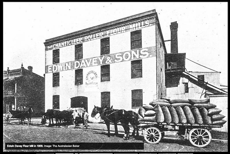 Edwin Davey Flour Mill in 1909. The Australasian Baker