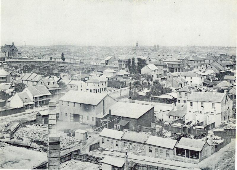 Overlooking Harris Street, 1900