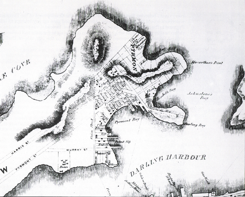 Pyrmont topographic map 1843