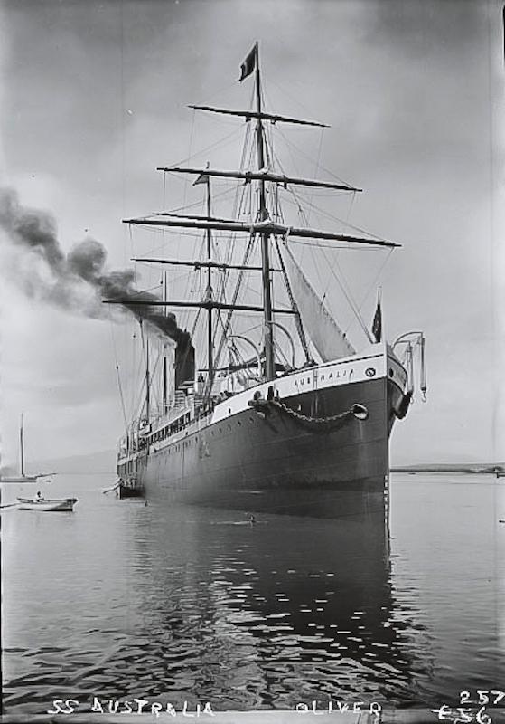 Pacific Mail steamer Australia. Bancroft Library, BANC PIC 1905