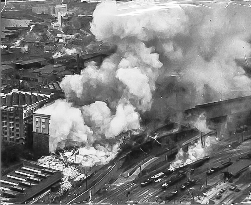 Fire at the Goldsbrough Mort Wool Store, 1935