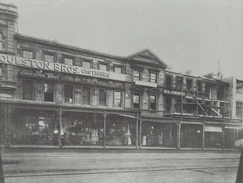 Wilshire Place, 622-628 George Street, about 1907, City of Sydney Archives