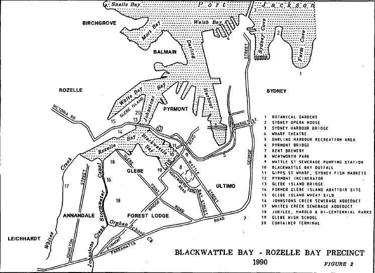 Blackwattle Bay-Rozelle Bay Precinct 1990